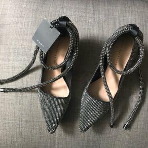 Zara stone encrusted heels